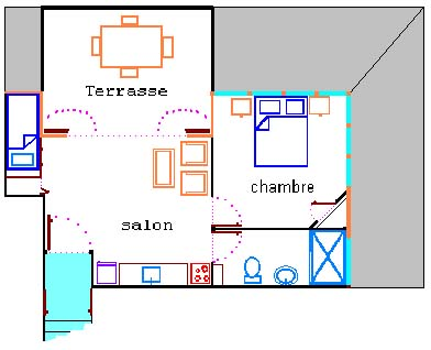 apartment for 3 persons floor plan