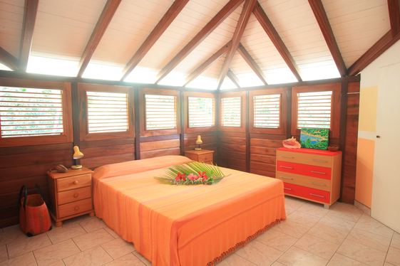 Well lit and ventilated Bedroom